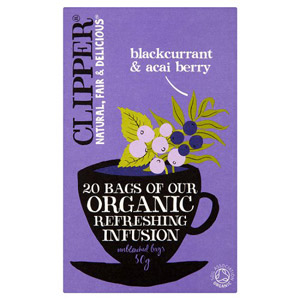 Clipper Infusion Blackcurrant & Acai Berry 20 Teabags