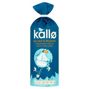 Kallo Sea Salt And Balsamic Vinegar Rice Cakes