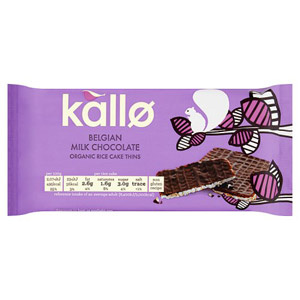 Kallo Organic Milk Chocolate Thin Rice Cakes