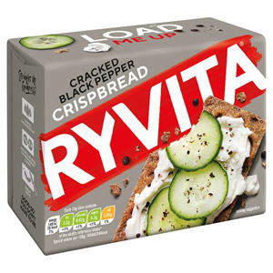 Ryvita Cracked Black Pepper Crisp Bread 5 Pack