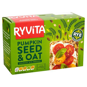 Ryvita Pumpkin And Oats Crisp Bread 4 Pack