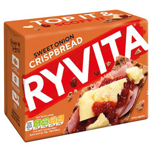 Ryvita Sweet Onion Crisp Bread 5 Pack