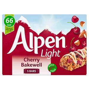 Alpen Light Bar Cherry Bakewell 5 Pack