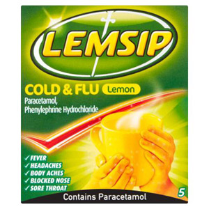 Lemsip Max Cold And Flu Lemon 5 Pack