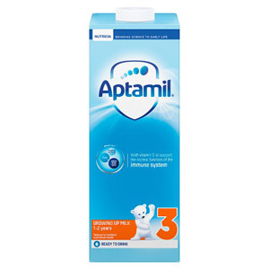 Aptamil Growing Up Milk 1-2 Years Ready To Use Carton.