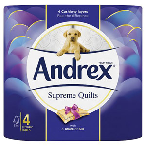 Andrex Toilet Tissue Quilts 4 Rolls