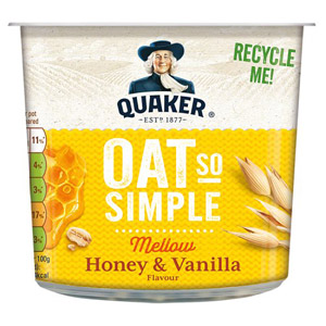 Quaker Oat So Simple Honey & Vanilla Porridge Pot
