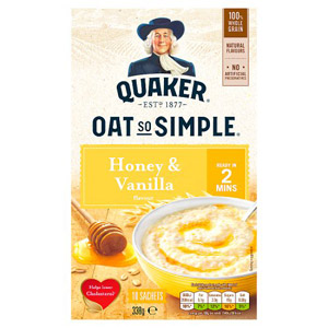 Quaker Oat So Simple Honey & Vanilla Porridge 10 Pack