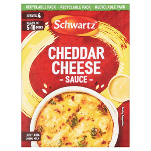 Schwartz Mix For Cheddar Cheese Sauce