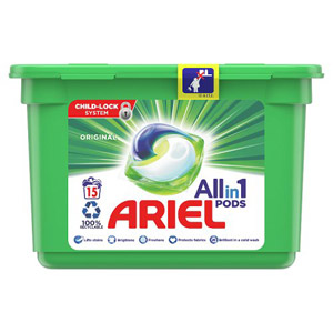 Ariel 3In1 Bio Pods 15 Washes