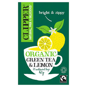 Clipper Organic Green Tea with Lemon 20 Teabags