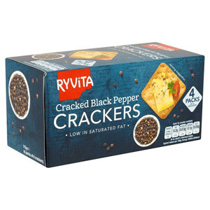 Ryvita Cracker For Cheese Black Pepper 4 Pack