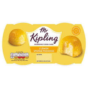 Mr Kipling Exceedingly Good Puddings 2 Pack Lemon