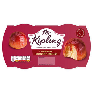 Mr Kipling Exceedingly Good Puddings 2 Pack Raspberry