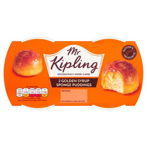 Mr Kipling Exceedingly Good Puddings 2 Pack Golden Syrup