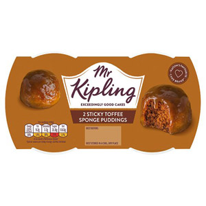 Mr Kipling Exceedingly Good Puddings 2 Pack Sticky Toffee