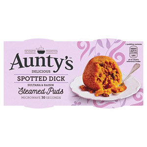 Auntys Spotted Dick Puddings 2 Pack