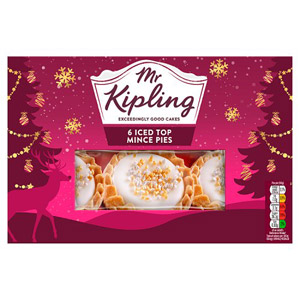 Mr Kipling Iced Top Mince Pies