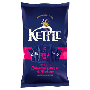 Kettle Sea Salt & Balsamic Vinegar Crisps 5 Pack