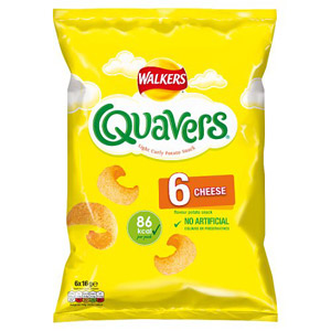 Walkers Quavers Cheese 6 Pack 99g