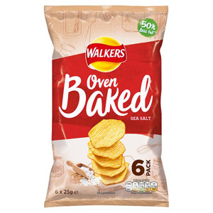 Walkers Baked Ready Salted Crisps 6 Pack