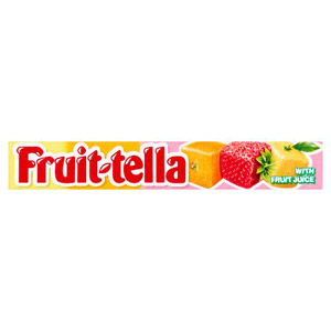 Fruit Tella Assorted Chewy Sweets Strawberry Orange Lemon
