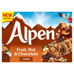 Alpen Fruit & Nut with Chocolate Cereal Bar 5 Pack