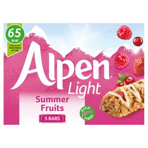 Alpen Light Summer Fruits 5 Pack