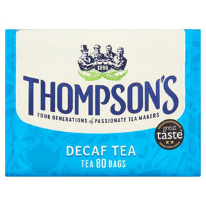 Thompsons Punjana Decaffeinated Tea Bags 80 Per Pack