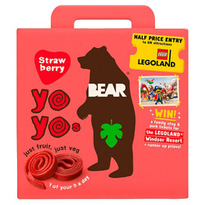 Bear Yo Yo's Strawberry 5 Pack