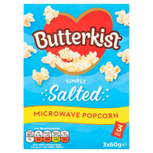 Butterkist Microwave Salted Popcorn 3 Pack