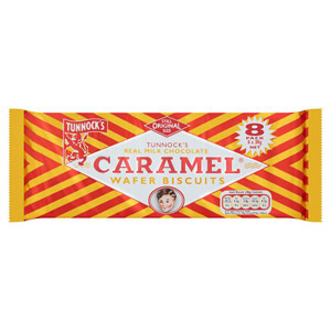 Tunnocks Caramel Wafer 8 Pack