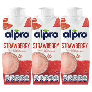 Alpro Soya Longlife Strawberry Shake 3 Pack