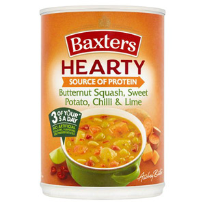 Baxters Hearty Butternut Squash & Potato with Chilli & Lime Soup