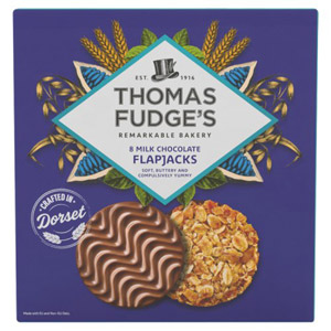 Fudges Marvellous Milk Chocolate Flapjacks 8 Pack