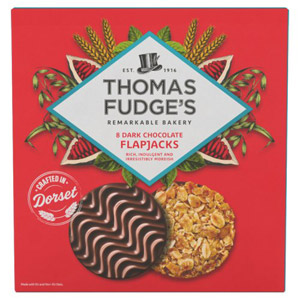 Fudges Dark Chocolate Flapjacks 8 Pack