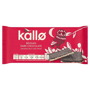 Kallo Organic Dark Chocolate Rice Cake Thins