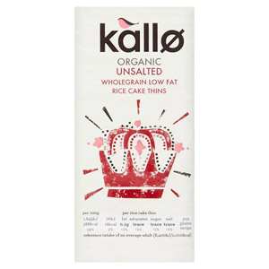 Kallo Organic Thin Unsalted Rice Cakes