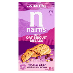 Nairns Gluten Free Biscuit Breaks Oats & Fruit