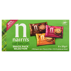 Nairns 9 Oat Biscuit Snack Pack Selection