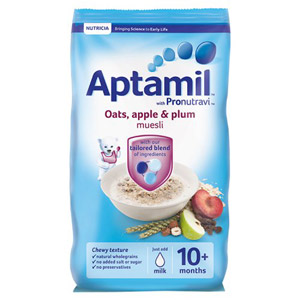 Aptamil 10 Month Oat Apple And Plum Muesli Packet