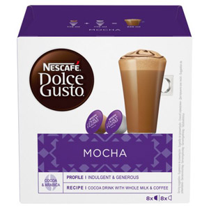 Nescafe Dolce Gusto Mocha Coffee Pods 8 Servings