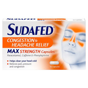 Sudafed Congestion / Headache Day & Night Capsules 16 Pack