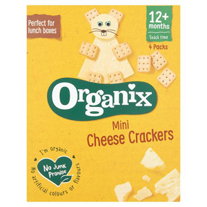 Organix 12 Months Goodies Mini Cheese Crackers 4 Pack