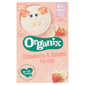 Organix 4 Month Strawberry & Banana Porridge