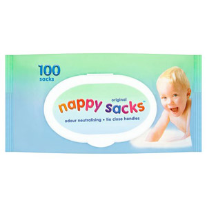 Poly-Lina Nappy Sacks 100 Pack