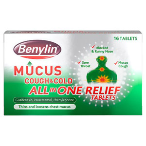 Benylin Mucus Cough / Cold All In One Relief Tablets 16s