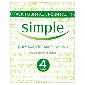 Simple Pure Soap 4 Pack 500g