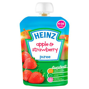 Heinz 4 Month Fruit Pouch Apple & Strawberry
