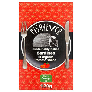 Fish 4 Ever Whole Sardines in Organic Tomato Sauce